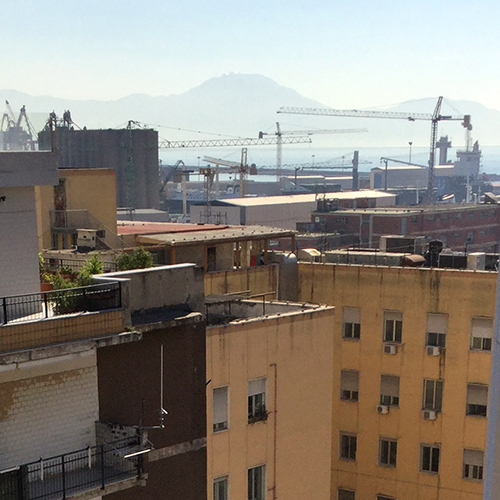 First view of Vesuvius from the apartment!